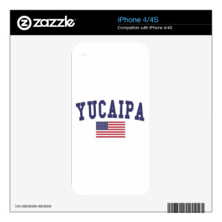 Yucaipa US Flag Decal For iPhone 4