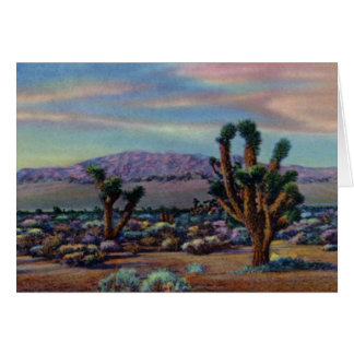 Yucas y desierto de Las Vegas Nevada Tarjeta De Felicitación