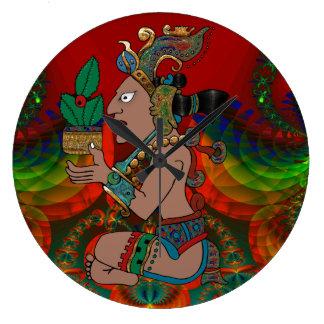 Yucatán Mexicano psicodélico Visiones Reloj Redondo Grande