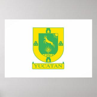 Yucatan, Mexico flag Poster