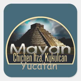 YUCATÁN México Pegatina Cuadrada