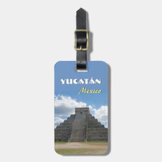 Yucatan Mexico Pyramid Luggage Tag