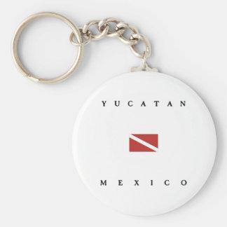Yucatan Mexico Scuba Dive Flag Keychain