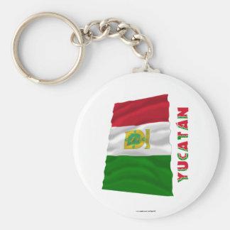 Yucatán que agita la bandera oficiosa llaveros