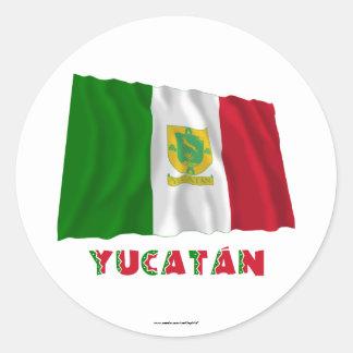 Yucatán que agita la bandera oficiosa etiqueta