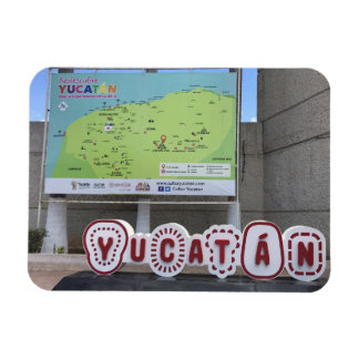 Yucatan Sign and Map, Mexico Photo Magnet