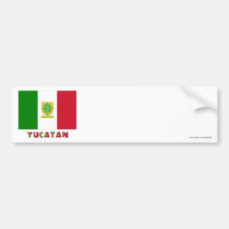 Yucatán Unofficial Flag Car Bumper Sticker