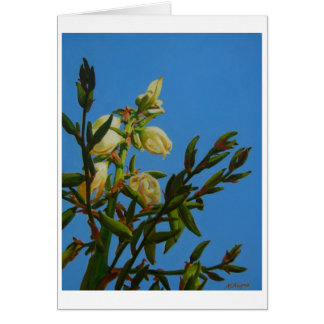 Yucca Blooming Greeting Card