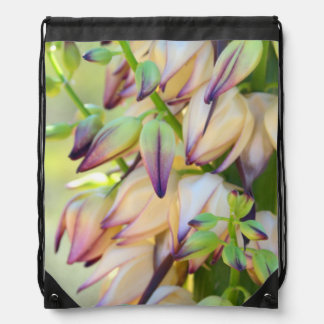 yucca flowers drawstring backpack