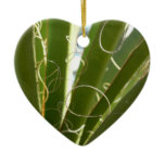 Yucca Leaves Green Abstract Nature Photography Ceramic Ornament
