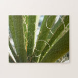 Yucca Leaves Green Abstract Nature Photography Jigsaw Puzzle