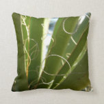 Yucca Leaves Green Abstract Nature Photography Throw Pillow