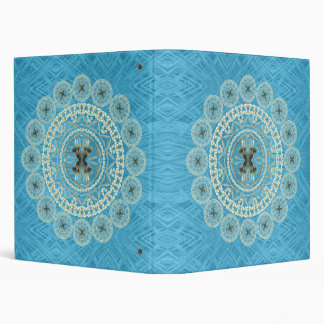 Yucca Mandala on Blue Pattern Binder
