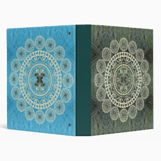 Yucca Mandalas on Green and Blue Patterns Binder