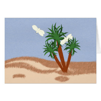 Yucca Plants and Yucca Moths Whimsical Cartoon Art Cards