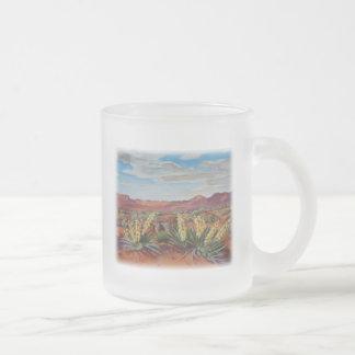 'Yuccas' 10 Oz Frosted Glass Coffee Mug