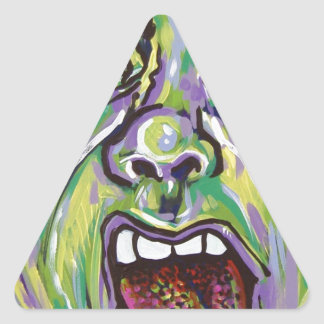 yuck face triangle stickers