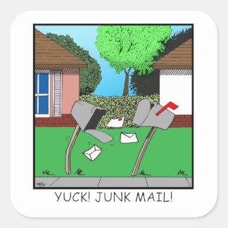 YUCK! JUNK FOOD! SQUARE STICKER