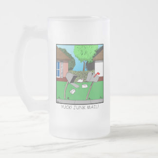 Yuck! Junk Mail! Frosted Glass Beer Mug