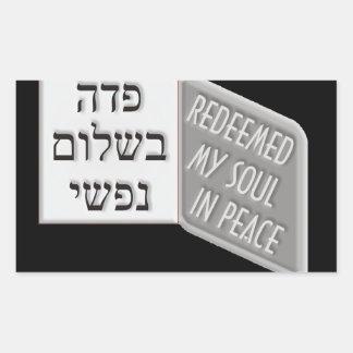 Yud Tes Kislev Rectangular Sticker