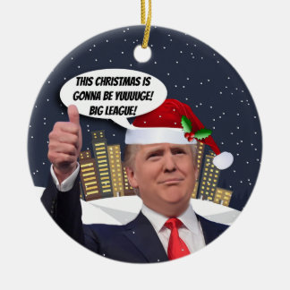 Yuge Christmas! Donald Trump Tree Ornament