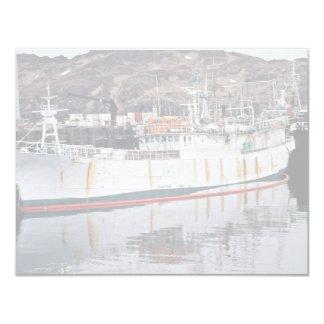 Yugfa, barco pirata de Adak con las ratas Invitación 10,8 X 13,9 Cm