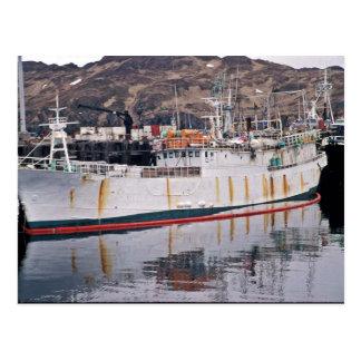 Yugfa, barco pirata de Adak con las ratas Tarjeta Postal
