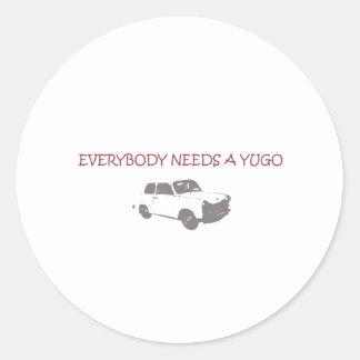 YUGO CLASSIC ROUND STICKER
