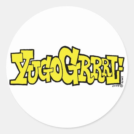 YUGOGRRRL! sticker