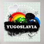 Yugoslavia con sabor a fruta linda posters