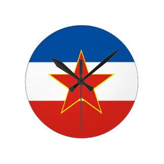 Yugoslavia country flag clock