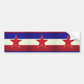 Yugoslavia flag bumper sticker