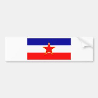 YUGOSLAVIA FLAG BUMPER STICKER