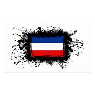 Yugoslavia Flag Business Card