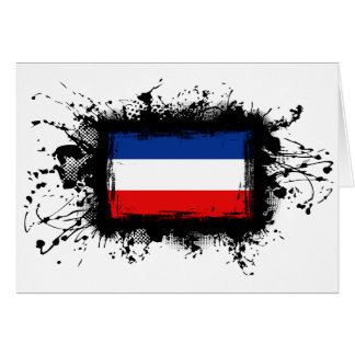 Yugoslavia Flag Card