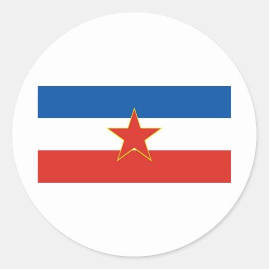 yugoslavia flag classic round sticker
