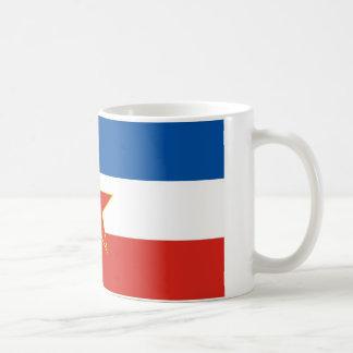 yugoslavia flag coffee mug