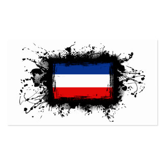 Yugoslavia Flag Double-Sided Standard Business Cards (Pack Of 100)