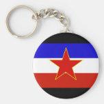 Yugoslavia Flag Keychains