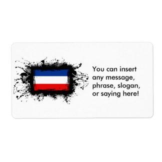 Yugoslavia Flag Label