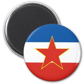 yugoslavia flag fridge magnet