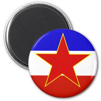 Yugoslavia Flag Refrigerator Magnets