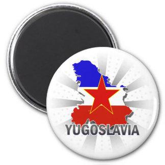 Yugoslavia Flag Map 2.0 Magnet