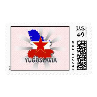 Yugoslavia Flag Map 2.0 Stamp