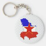 Yugoslavia Flag Map full size Keychains