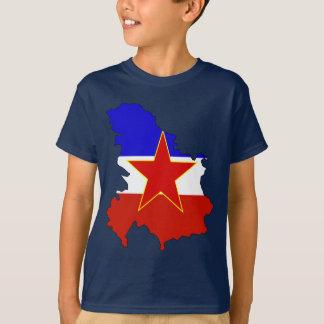 Yugoslavia flag map T-Shirt