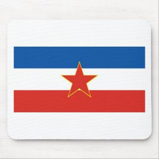yugoslavia flag mouse pad
