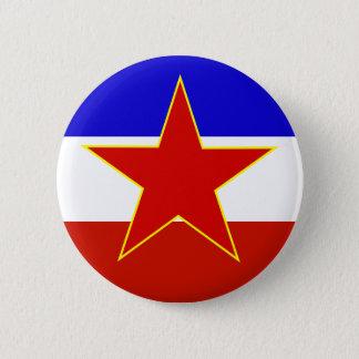 Yugoslavia Flag Pinback Button
