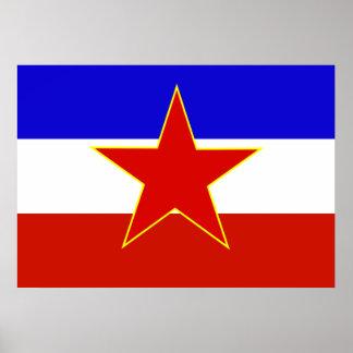Yugoslavia Flag Poster