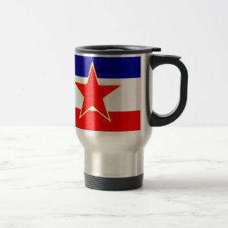 YUGOSLAVIA FLAG TRAVEL MUG